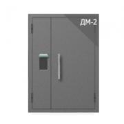 Дверь металлическая техническая ДМ-2 (двуполая с остеклением)